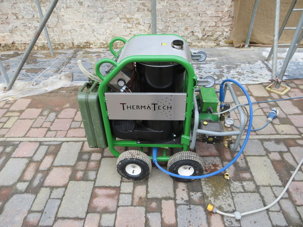 this image shows the thermtech masonry paint removal equipment we use. This is similar to the doff paint removal system also. what is the best way to remove paint. what is the easiest way to remove paint. chemical free paint removal. paint removal cost
